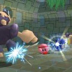 Kirby golpeando a dos <a href=