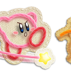Kirby lanza su látigo al presionar <i><b>1</b></i> rápidamente. Los enemigo que atrape, los deshará en hilos.