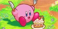 Pastel de fresa de Kirby