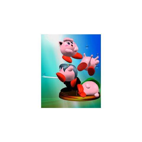 Kirby Mewtwo en un trofeo de Melee