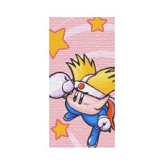 Tablero de Knuckle Joe en Kirby No Kira Kira Kids.
