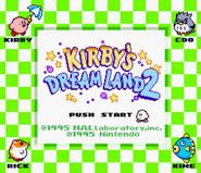 Kirby's Dream Land 2 SGB