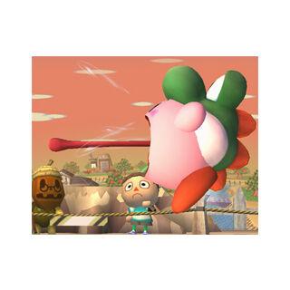 Kirby usando <i>Puesta</i> en <a href=