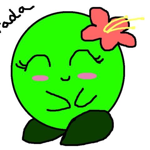 Green Kirby fanart by Sari Rae