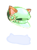 Cat ear beret green collection