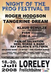 2008-07-18 III. Night of the Prog, Loreley, Germany poster