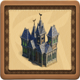 Ghost house framed