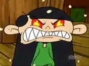 Negative Numbuh 3's sharp teeth