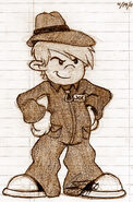 Screenshot Drawing of Joe from Op. C.R.I.M.E. - KND