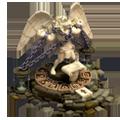 Idol winged lion man