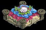 Flowerbed bluepink