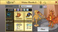 Wicker Mantle 3 M