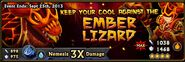 Ember Lizard Banner