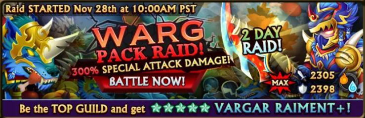 Warg Raid Banner