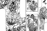 Hakai stiching his arm back