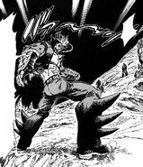 Homuraya retreating backwards without noticing