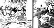 Tsuchiya blocking Haruka's Scorpion Technique
