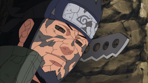 Asuma amparts his words