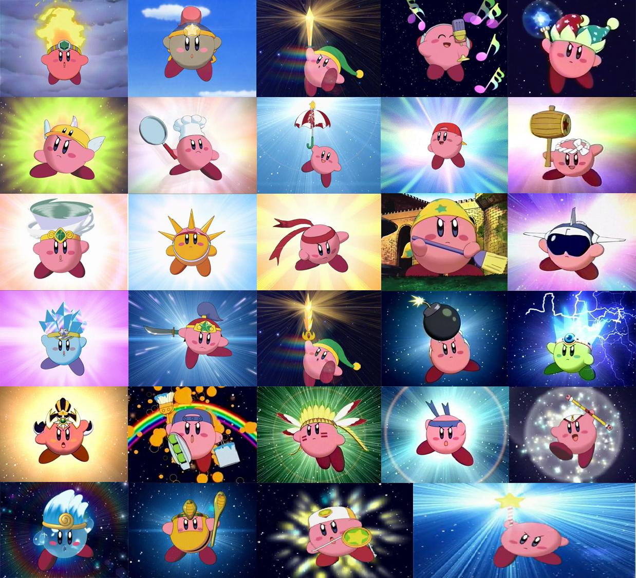 Image - Copy abilities.jpg | Kirby: Right Back at Ya! Wiki ...  Image - Copy ab...