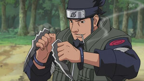 Asuma utilizing taijutsu