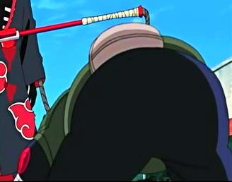 Hidan stabs Asuma