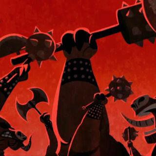 The Qidan warriors in battle