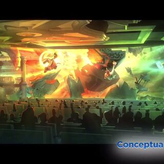 Concept art of the <i>Kung Fu Panda</i> showing