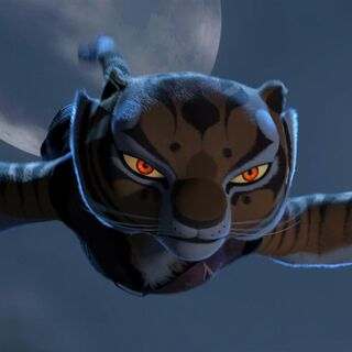Tigress leaving the <a href=