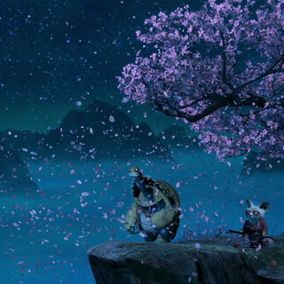 Oogway ascending to the heavens