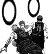 Kuroko blocks Akashi