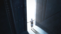 Aomine opens the gate