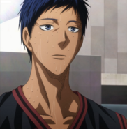Aomine after his lost to Seirin