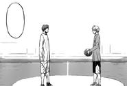 Kuroko and Akashi before the finals match