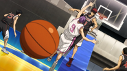 Kagami blocks Murasakibara dunk again