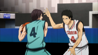 Takuma against Hyuga