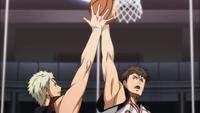 Wakamatsu tries to block Kiyoshi (anime)