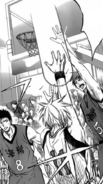 Kuroko scores the first points