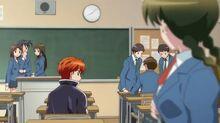 Rinne and Sakura in class