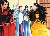 Tsudao shouting to Heikichi