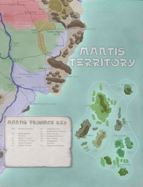 Mantis Clan Provinces