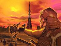 Kaneka attacking the City of the Lost