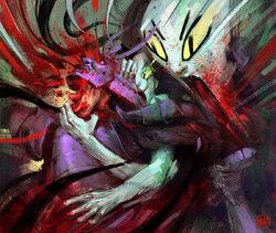 The Wrathful Dead kills Okaru