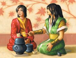 Kanahashi having a tea with Kodo