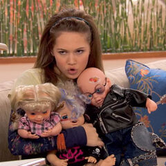 Bree with her hideous baby collection