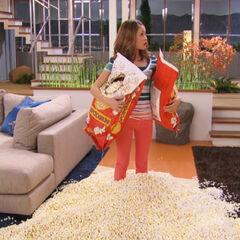 Bree with popcorn