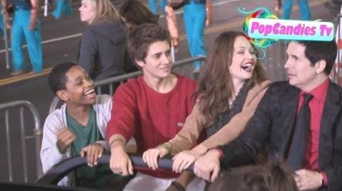 Billy Unger Kelli Berglund with Hal Sparks & Tyrel Jackson Williams at 2012 Christmas Parade