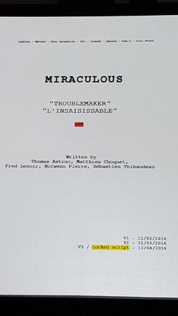 Troublemaker Script Front SDCC