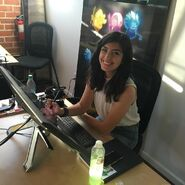Angie at work
