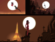 Concept Ladybug and Cat Paris