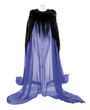 Holly Russell Blue Jewel Beetle Gown